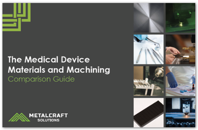 The Medical Device Materials and Machining Comparison Guide cover