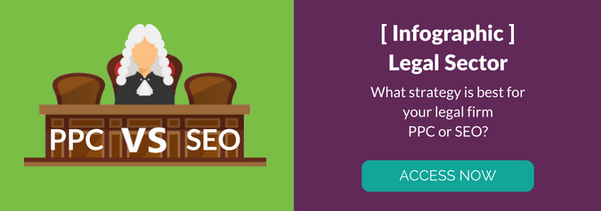 Access our free PPC vs SEO legal sector infographic