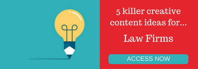 5 killer creative content ideas for law firms infographic