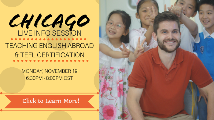 Join us for a live info session on teaching English abroad!