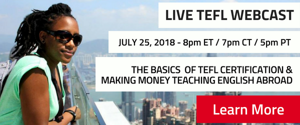 Join a live webcast about teaching English online