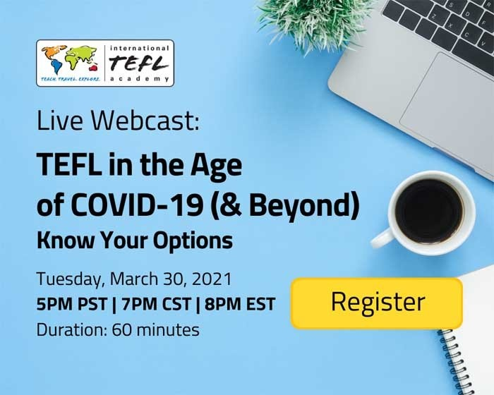 Join us for a live Webcast about TEFL