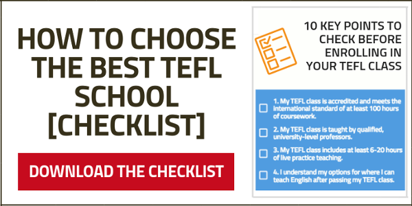 Download your free checklist to help you choose the best TEFL course