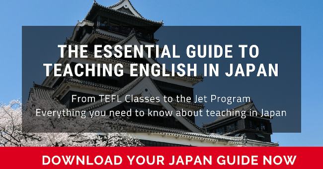Click here to download the Essential Guide to Teaching English in Japan   that details salaries, hiring requirements, interview procedures, and TEFL  class options  for teaching English abroad in Japan.