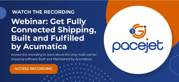 fully connected shipping built by Acumatica webinar
