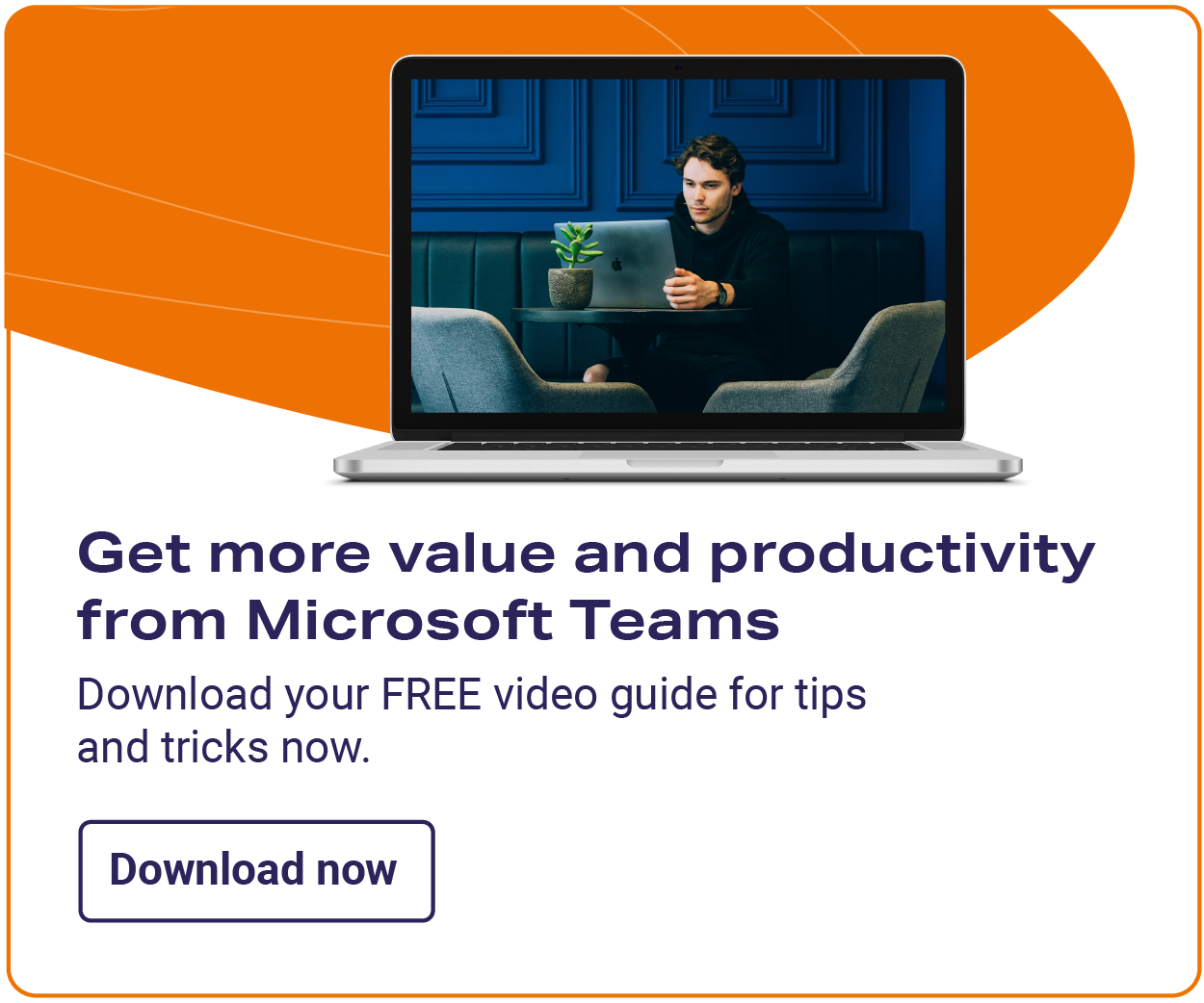 Microsoft Teams recorded webinar CTA