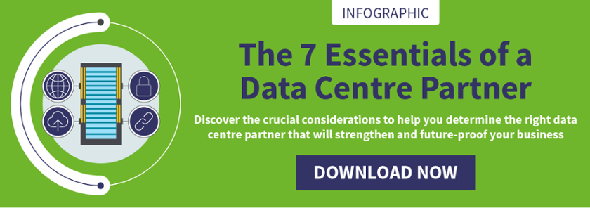 data centre partner essential requirements infographic