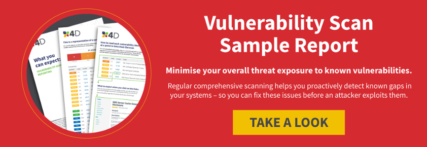 Vulnerability Scan sample example report