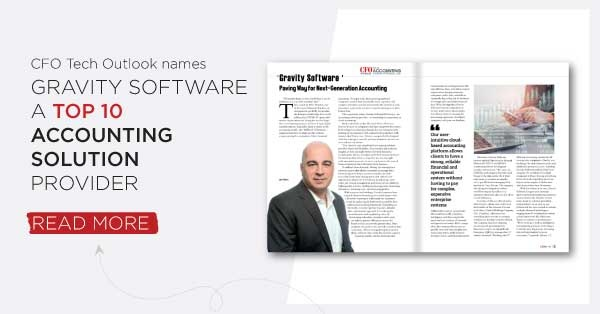 Gravity Software named top accounting solution provider