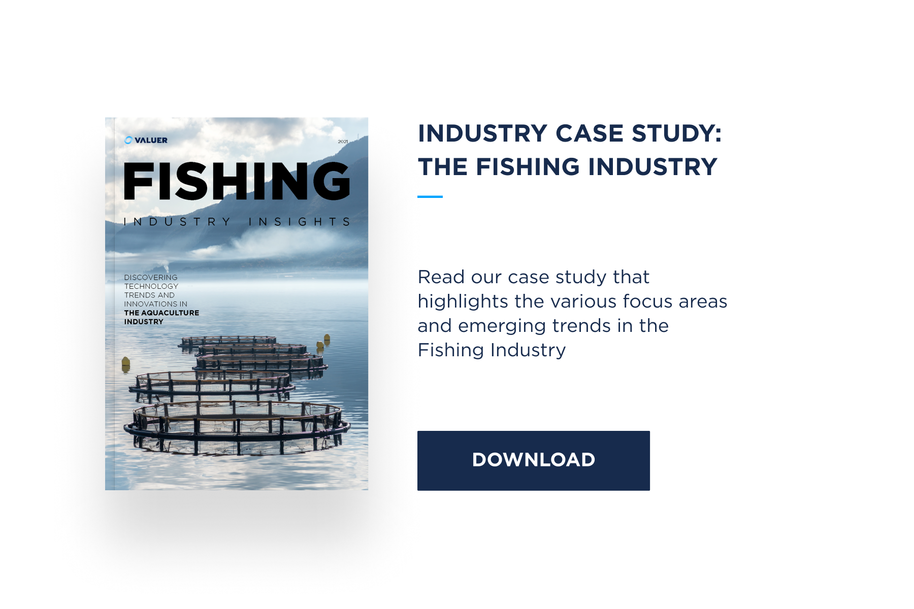The Fishing industry case study with image fish farming pens
