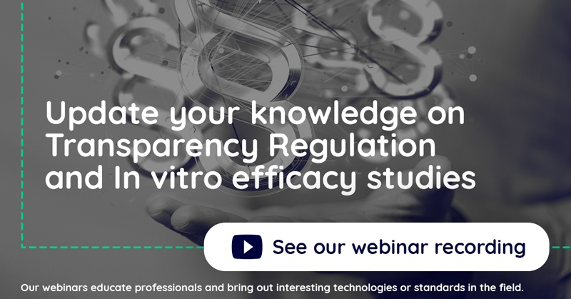 Update your knowledge on Transparency Regulation and In vitro efficacy studies