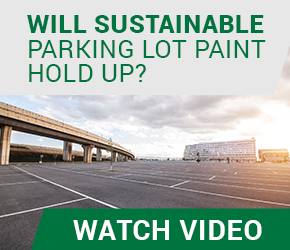 How does sustainable parking lot paint hold up?