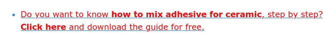 * Do you want to know how to mix mix adhesive for ceramic, step by step?  Click here and download it for free.