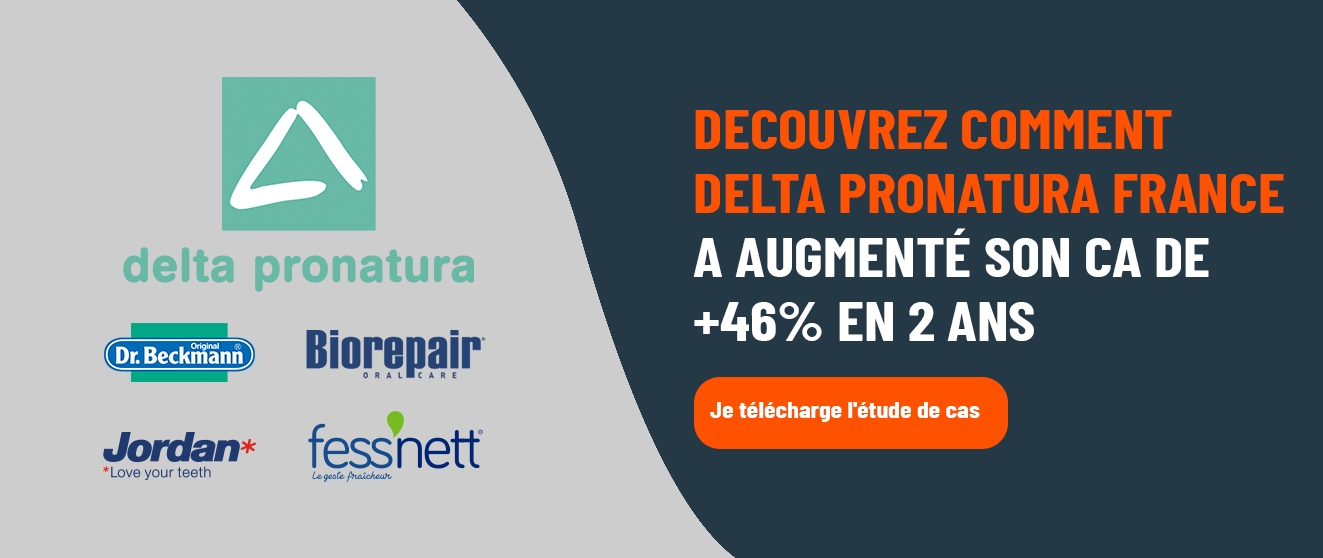 [ETUDE DE CAS]  Découvrez comment delta pronatura France a augmenté son CA de + 46% en 2 ans  > Je télécharge l'étude de cas