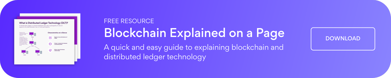 Blockchain Explained on a Page