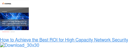 How to Achieve the Best ROI for High Capacity Network Security