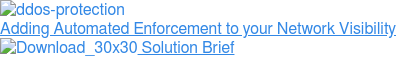 Adding Automated Enforcement to your Network Visibility  Solution Brief