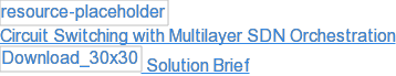 Circuit Switching with Multilayer SDN Orchestration  Solution Brief