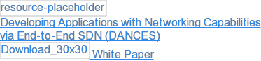 Developing Applications with Networking Capabilities  via End-to-End SDN (DANCES)  White Paper