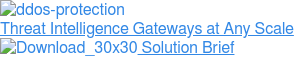 Threat Intelligence Gateways at Any Scale  Solution Brief