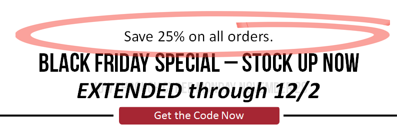 Black Friday 2016 - Save 25% on all orders