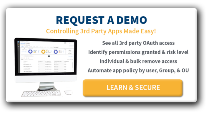 control 3rd party apps product demo