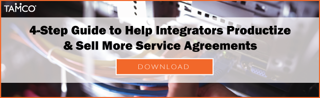 4 step guide CTA download to help integrators productize and sell more service agreements