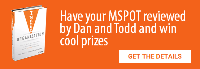 Have your MSPOT reviewed by Dan and Todd and win cool prizes