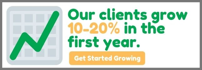 Our clients grow 10-20% in the first year.