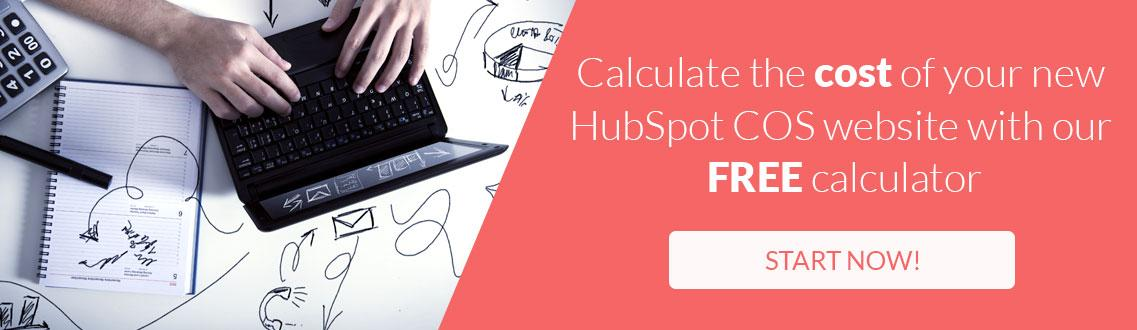HubSpot COS website cost calculator