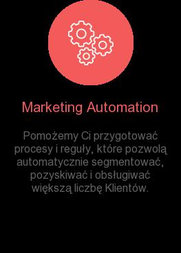 Marketing Automation Pomożemy Ci przygotować procesy i reguły, które pozwolą automatycznie  segmentować, pozyskiwać i obsługiwać większą liczbę Klientów.