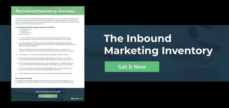 The Inbound Marketing Inventory - Get it Now