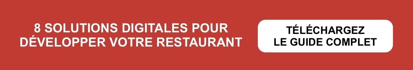 8 solutions digitales pour développer votre restaurant