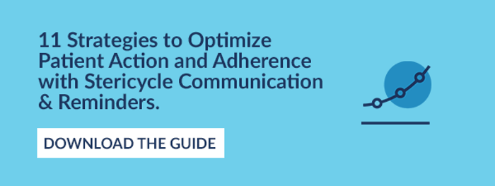 11 Strategies to Optimize Patient Action and Adherence with Stericycle Communication & Reminders.  DOWNLOAD THE GUIDE