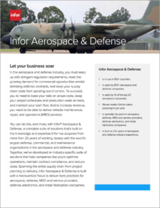 Infor CSI for Aerospace & Defense Brochure