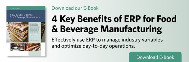 ERP for Food & Beverage Manufacturing
