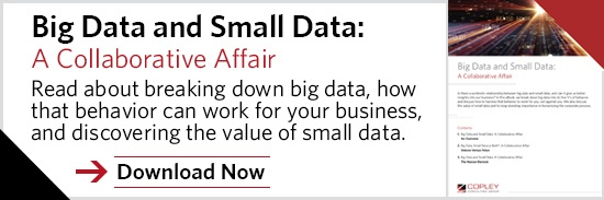 The Copley Consulting Group | Big Data & Small Data: A Collaborative Affair