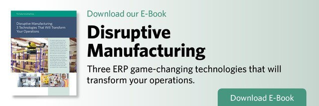 E-Book: Disruptive Manufacturing: 3 Technologies That Will Transform Your Operations  Download E-book