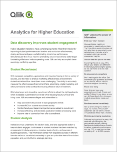 Qlik Analytics for Higher Education