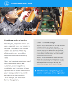 Infor Service Management Brochure