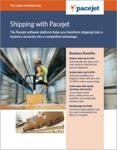 Shipping with Pacejet