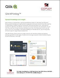 Qlik NPrinting Data Sheet