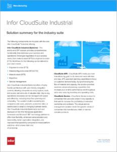 Infor CloudSuite Industrial Brochure