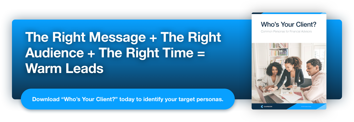 The Right Message + The Right Audience + The Right Time = Warm Leads