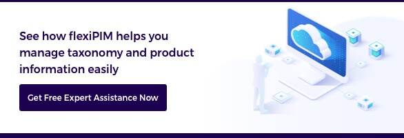eCommerce product taxonomy blog CTA