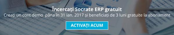 Incercați Socrate ERP gratuit. Creați un con demo acum și beneficiați de 3 luni gratuite la abonament.