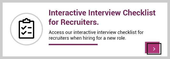 Interactive interview checklist guide for recruiters and company employers