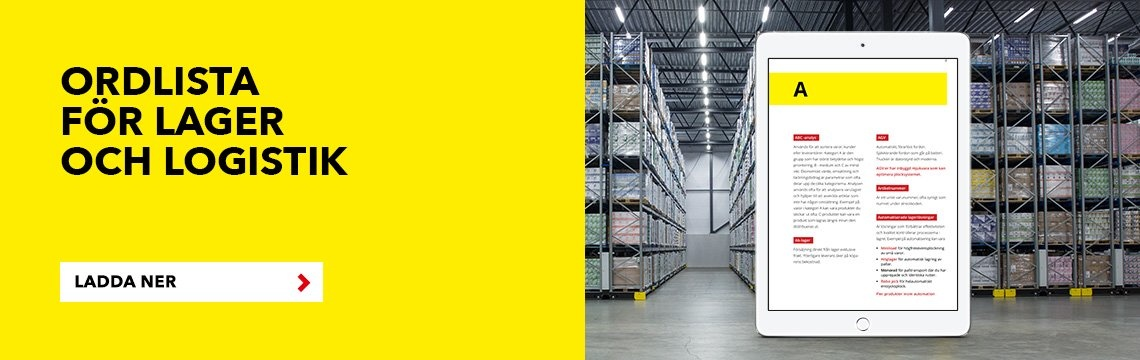 Ordlista för lager och logistik