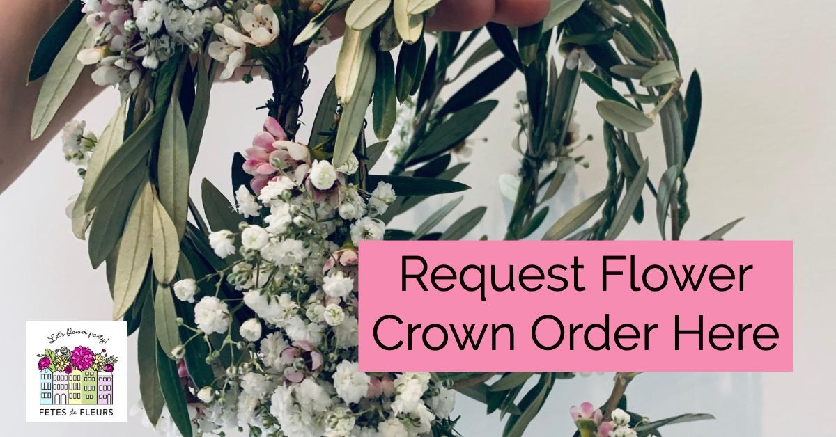 flower girl flower crown