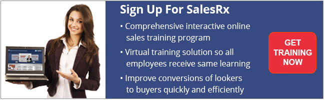 sign for salesrx online training